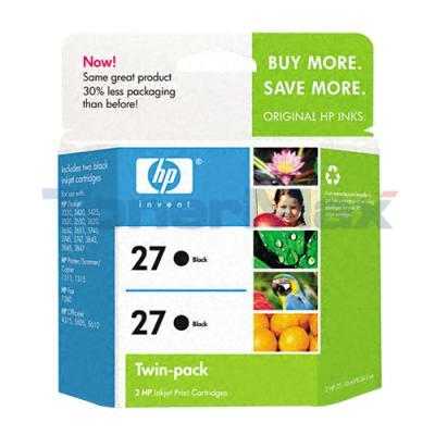 HP 27 PRINT CARTRIDGE BLACK TWINPACK